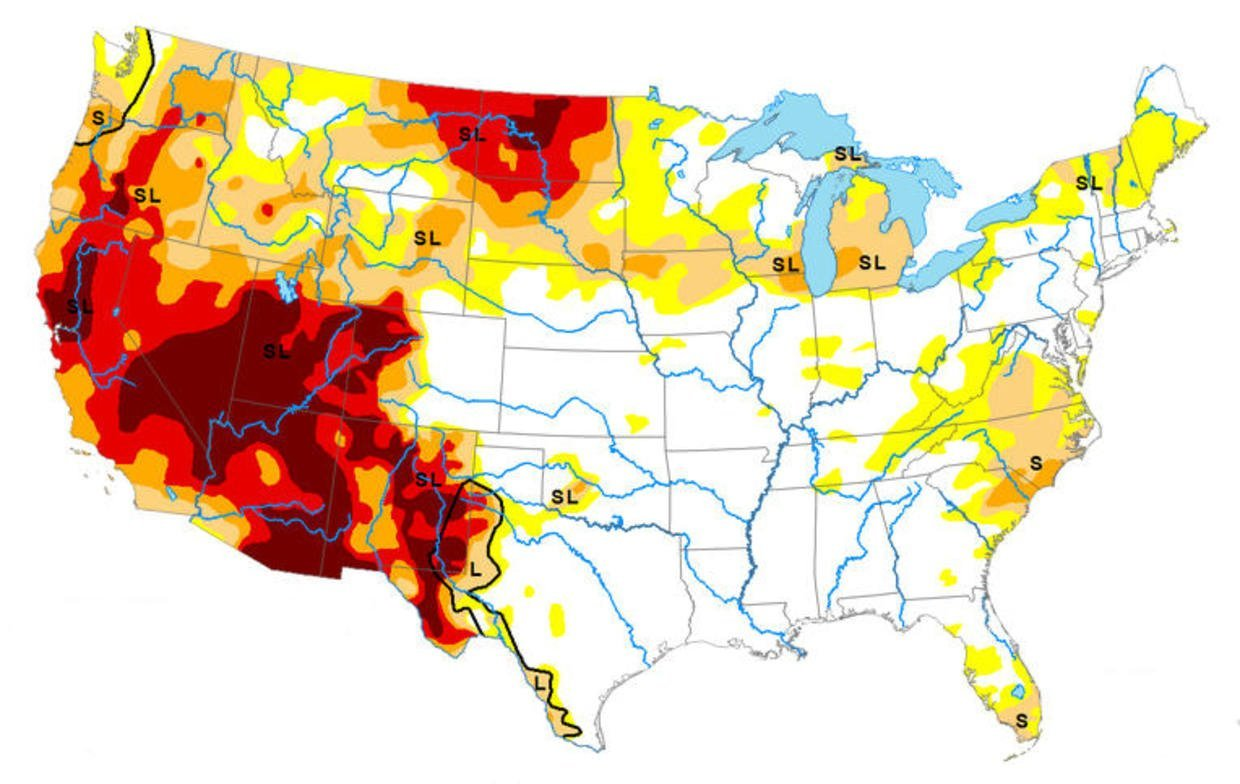 """How the """"mega-drought"""" is impacting Western states"""