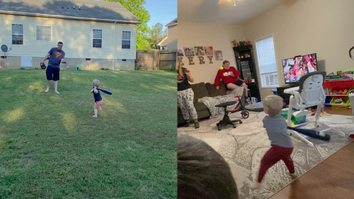 ''What's Better? The Throw or the Hit?' Adorable Toddler Flexes his Baseball Skills '