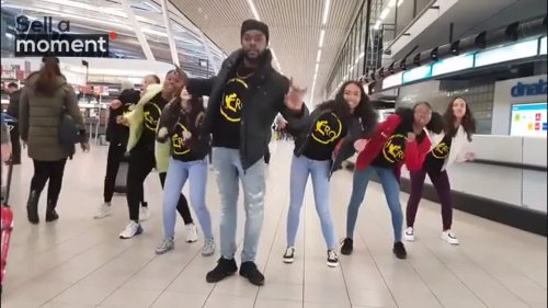 Dance Group Vibe at Airport