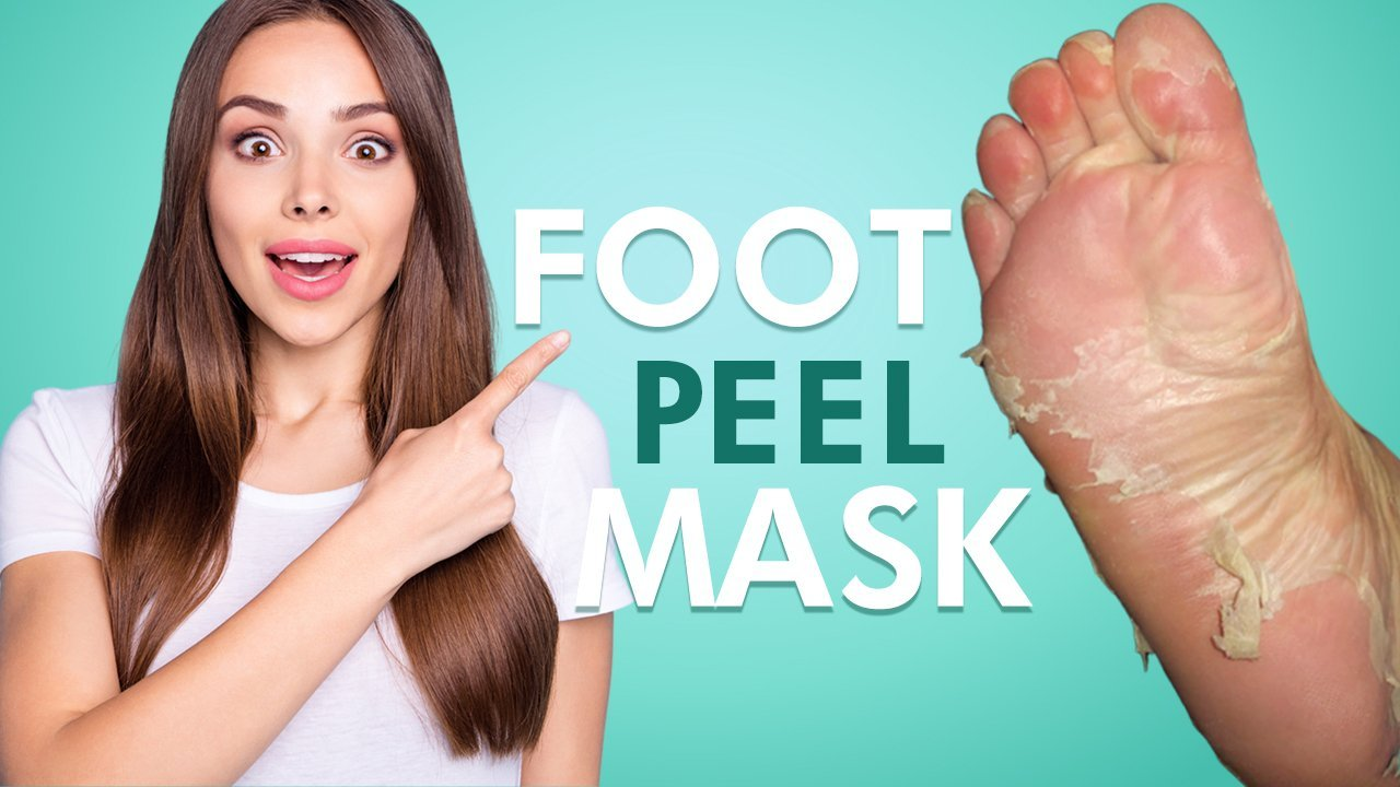 Foot peel mask for smooth skin