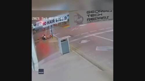Woman Flies Over Handlebars as E-Scooter Hits Gutter in Darwin