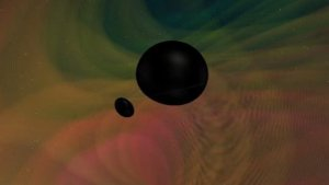 Two Black Holes with Unequal Masses Collide