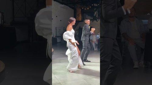 Beautiful Couple Performs Bachata Choreo on Wedding Day
