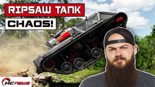 Watch Diesel Brother Heavy D Unleash Chaos In A $500,000 Ripsaw Tank