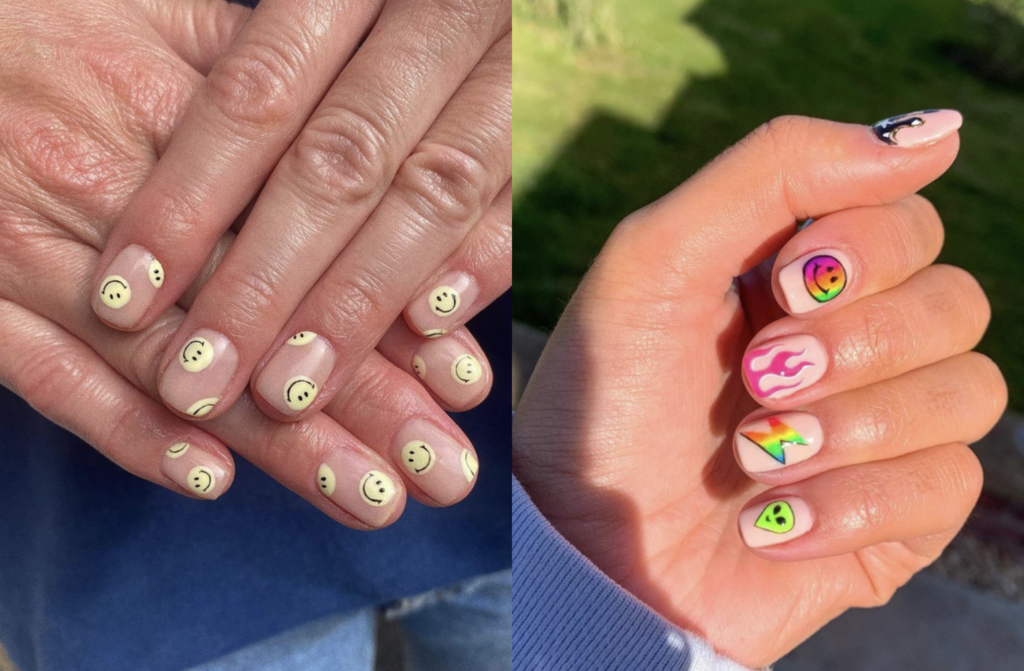 Smiley Face Nails Are In & They're Easier To Pull Off Than You Think