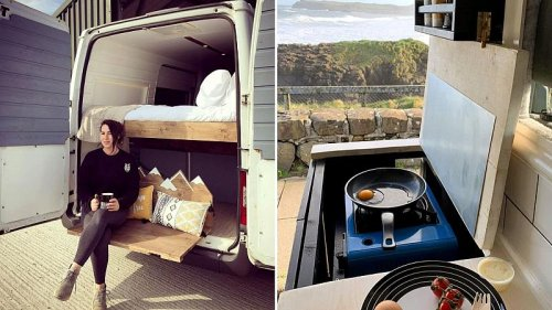 Meet the woman who turned a campervan into a luxury home on wheels