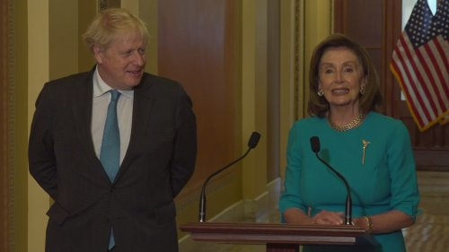 Boris Johnson and Nancy Pelosi bond over Churchill picture