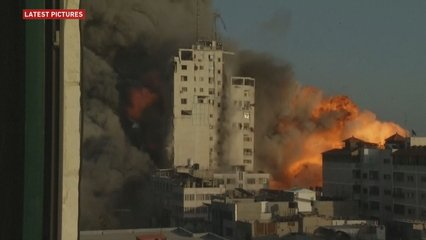 Israel bombards government buildings in Gaza amid ground raids