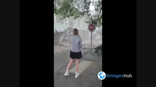Footage of destroyed street after earthquake in Melbourne, Australia 2