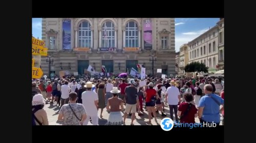 Thousands protest against COVID-19 measures in Montpellier, France 4