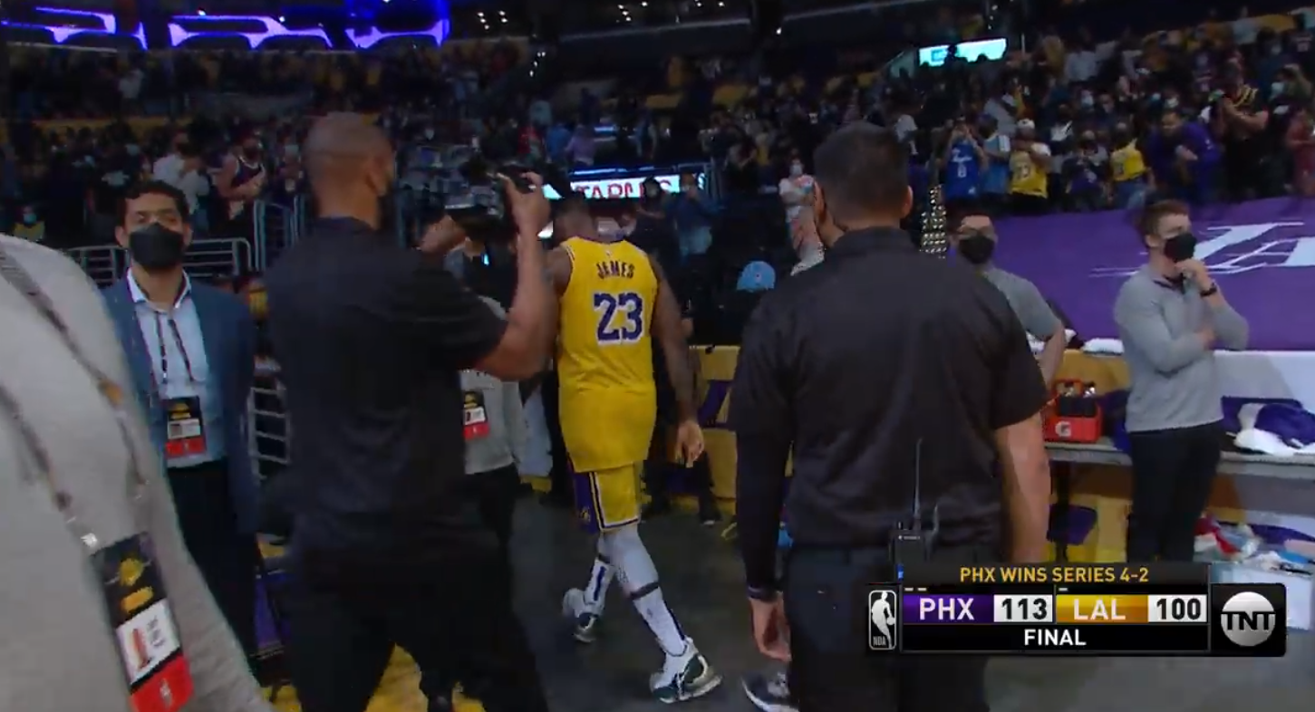 LeBron's season is over and fans are furious about how he left