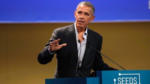 Obama defends Paris climate accord as Trump mulls ditching it   CNN Politics
