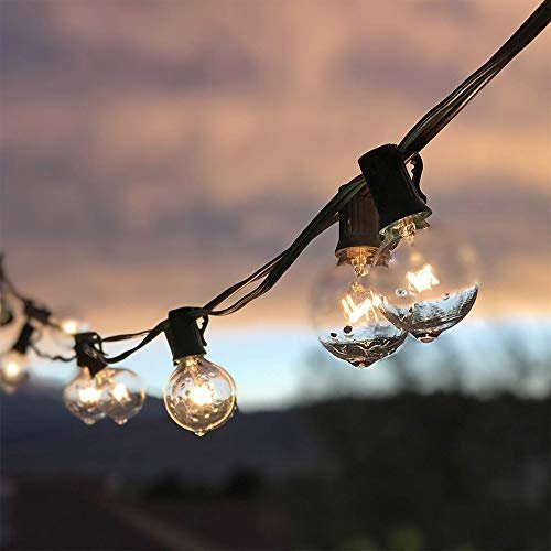 Incandescent outdoor string lights for a pleasant ambiance