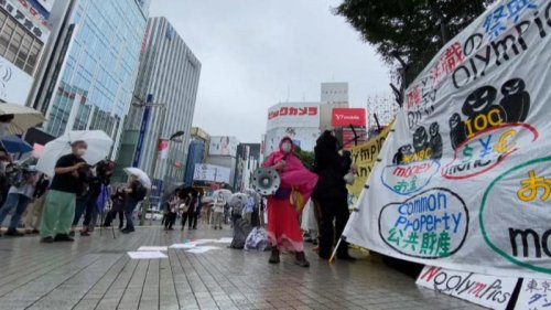 Protesters in Tokyo urge authorities to cancel Olympic Games