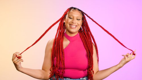 Knotless Box Braids with Curly Ends | Cosmo's The Braid Up