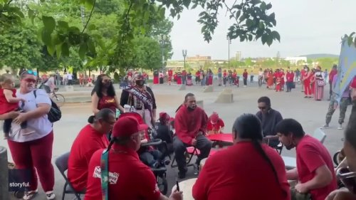 Group Performs Traditional Ceremony in Portland to Honor Missing or Murdered Indigenous People