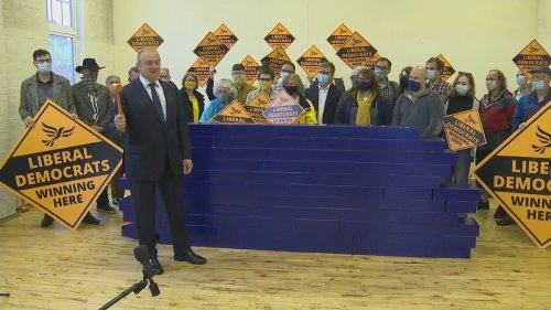 Ed Davey celebrates Chesham and Amersham by-election win