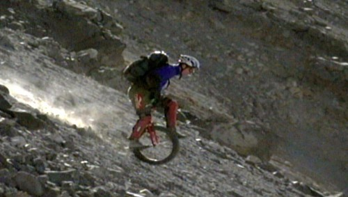 Unicycling Down a Mountain Is Anything but Safe and Easy