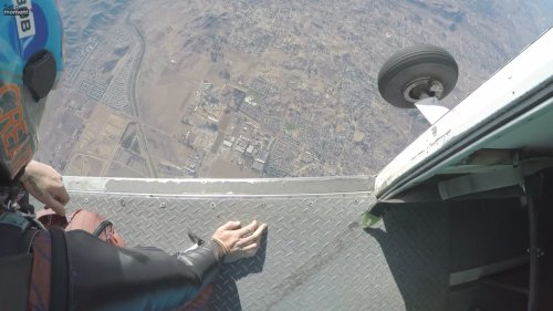 Dude Jumps Out of Plane in Wingsuit!