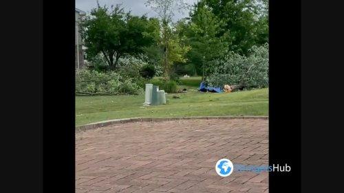 Claudette storm causes damage in Woodridge, Illinois 2