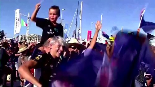 Team New Zealand savor America's Cup triumph