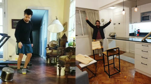 'Argentina Man Compiles his Best Sports Trick Shots (Practiced & Performed During Lockdown)'