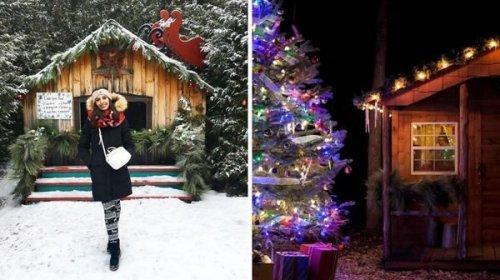 Tu peux te promener en traîneau dans ce village féérique de Noël à 2 h de MTL