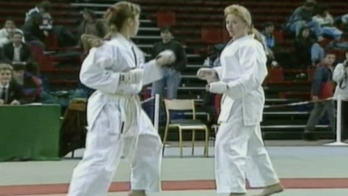 Nothing Like a Kick to the Head to End a Martial Arts Match