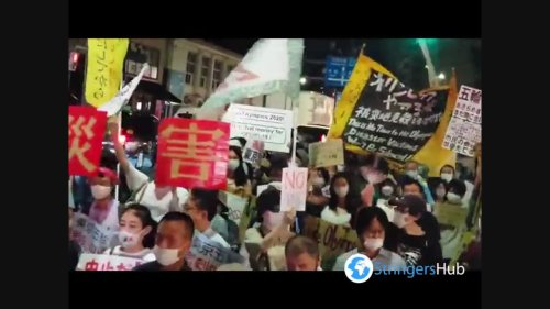 Japan: Protests Agsinst Tokyo Olympics Before Opening Ceremony In Tokyo