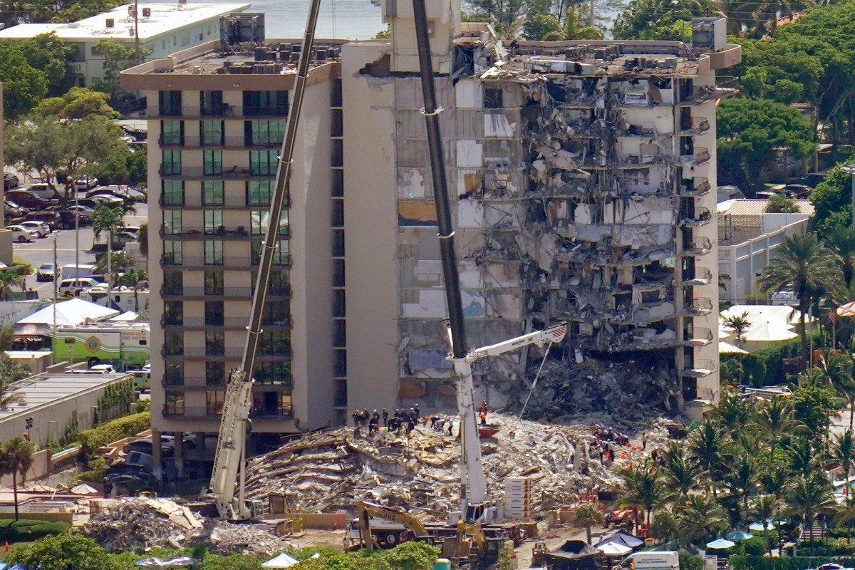 Building Partially Collapses Near Miami Beach