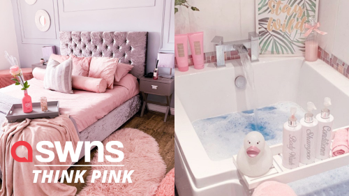 Woman spent £10k turning her home into a pink palace (RAW)