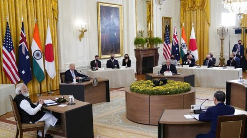 Wary of China, leaders of India, Australia, Japan and the US meet