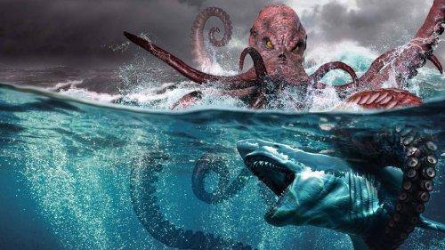 What If a Megalodon Shark Fought the Kraken?