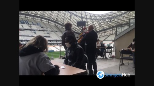 OM stadium becomes a food distribution center for students in Marseille, France 2