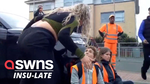 UK mum drives into Insulate Britain protestors with her Range Rover in Essex