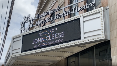Comedy legend John Cleese's one-man show is trying to get people to laugh more and worry less