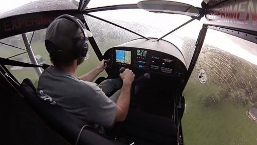 Pilot Attempts To Land Amidst Dangerous Weather Conditions