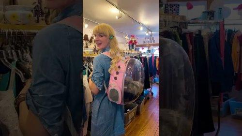 Woman Takes Opossum Shopping in Pet Bag