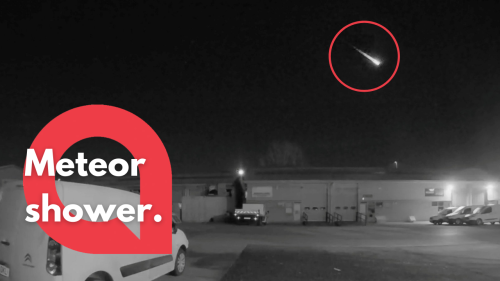 Footage shows FIREBALLS lighting up the sky as the UK is hit with a meteor shower (RAW)