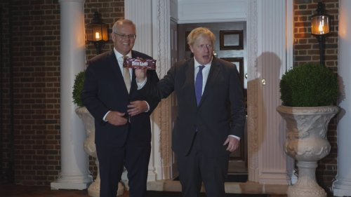 PM: UK-Australia relationship 'goes way beyond' Tim Tams