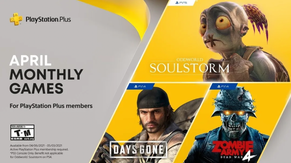 Here's April 2021's PlayStation Plus Lineup
