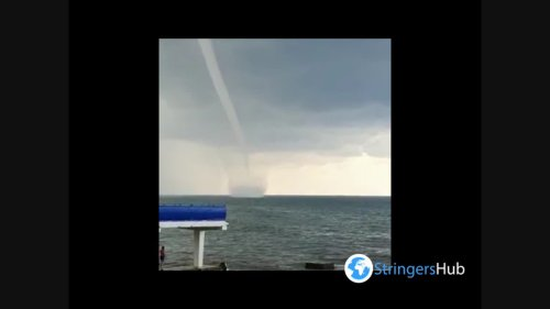 Russia: Waterspout Swirls Off Sochi Coast