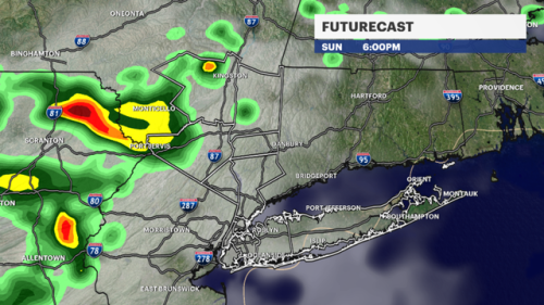 Sunny morning, evening storms for Sunday in NYC