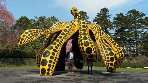New York exhibition celebrates Japanese artist Yayoi Kusama