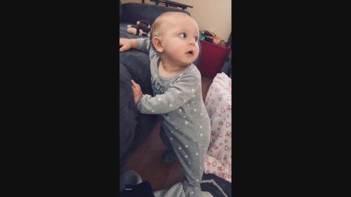 Baby Boogies as He Hears Music for the First Time Following Cochlear Implants