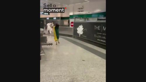 Heart-warming moment Family Reunites at Airport after Lockdown