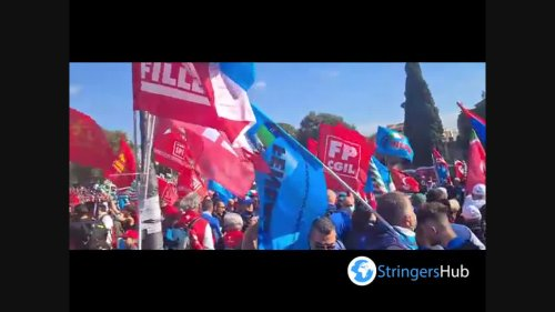 Italy: Tens Of Thousands Gather For Anti-Fascist Demonstration In Rome 2