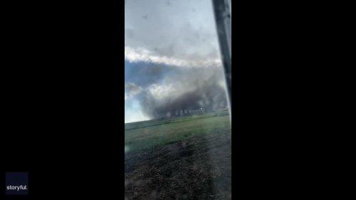 Dusty Whirlwind Spotted in Southwest Saskatchewan Amid Severe Weather Warnings