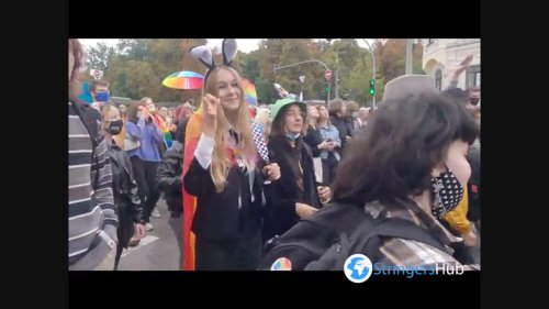 People take to the streets to join LGBT March in Kyiv, Ukraine