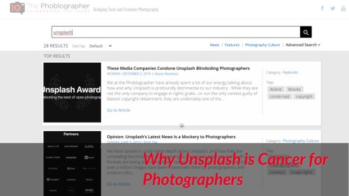 Why Unsplash is Cancer for Photographers